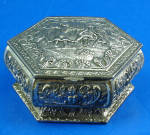 Click here to enlarge image and see more about item mt00196: Small Metal Jewelry Box