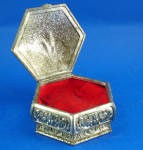 Click to view larger image of Small Metal Jewelry Box (Image2)