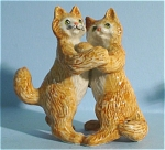 Click here to enlarge image and see more about item n00138: K6291 Dancing Persian Cats