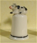 Click here to enlarge image and see more about item n00182: K4911b Cow Thimble