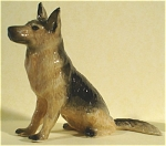 Click here to enlarge image and see more about item n00273: K3031a Sitting German Shepherd