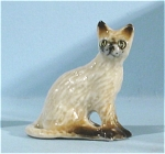 Click here to enlarge image and see more about item n00336: K4181L Tiny Sitting Siamese Cat