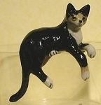 Click here to enlarge image and see more about item n00523: K2291c Black and White Hanging cat
