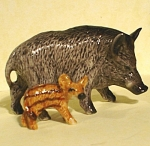 Click here to enlarge image and see more about item n00585: K0751b Wild Pig with Baby