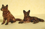 Click here to enlarge image and see more about item n00599: X0521a Tiny German Shepherd Pair