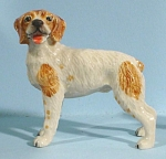 Click here to enlarge image and see more about item n00763: K8422 Brittany Spaniel - Brown Spots