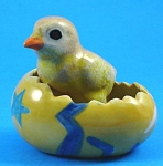 Click here to enlarge image and see more about item n00865: R263r Chick in Yellow Easter Egg