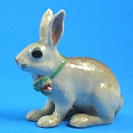 Click here to enlarge image and see more about item n00866: R262 Light Brown Easter Bunny with Ribbon