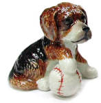 R246ar Beagle Puppy with Baseball
