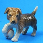 R246r Terrier Puppy with Baseball