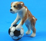 Click here to enlarge image and see more about item n00874: R246 Boxer Dog Puppy with Soccer Ball