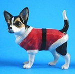 Click here to enlarge image and see more about item n00906: L506 Dressed Up Chihuahua (Santa)