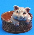 Click to view larger image of K0102 Baby Pig in a Basket (Image1)