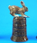 Click here to enlarge image and see more about item n01118: K4131 Brown Rabbit on Basket Thimble