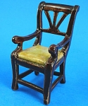 Click here to enlarge image and see more about item n01154: Porcelain Miniature Dollhouse Chair