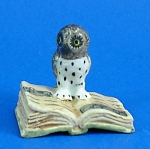 K482 Owl on Antique Style Book