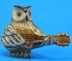 Click here to enlarge image and see more about item n01231: K0891 Owl with Guitar