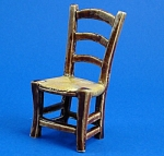 Click here to enlarge image and see more about item n01298: Dollhouse Miniature Porcelain Chair