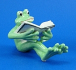 Click here to enlarge image and see more about item n01314: K888 Frog with Book