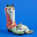 K5182 Cats with Cowboy Boot