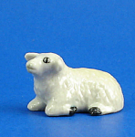 Click here to enlarge image and see more about item n01419: X0571 Tiny Lying Sheep