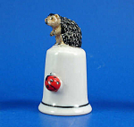 K8341 Hedgehog and Ladybug Thimble