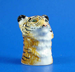 Click here to enlarge image and see more about item n01466: K7521 Tiger Head Thimble