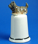 Click here to enlarge image and see more about item n01539: K4341 Cairn Terrier Thimble