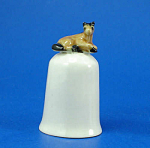 Click here to enlarge image and see more about item n01568: K282 Tiny Lying Horse on Thimble