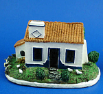 Click here to enlarge image and see more about item n01629: Miniature Resin House