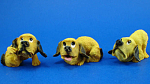 Resin Hound Dog Puppy Trio