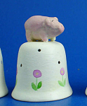 Hand Painted Ceramic Thimble - Pig