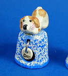 Klima Hand Painted Ceramic Thimble - Puppy Dog