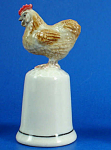 Click here to enlarge image and see more about item n01707: K898 Chicken on Thimble