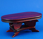 Click here to enlarge image and see more about item n01771: Dollhouse Wood Coffee Table