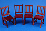 Click here to enlarge image and see more about item n01772: Dollhouse Wood Chairs, set of 4