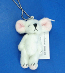 Click here to enlarge image and see more about item n01792: Miniature Plush White Mouse