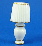 Click here to enlarge image and see more about item n01818: Dollhouse Miniature Porcelain Lamp