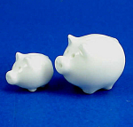 Click here to enlarge image and see more about item n01821: Tiny Porcelain Piggy Bank Pair