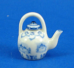 Click here to enlarge image and see more about item n01833: Dollhouse Miniature Porcelain Teapot