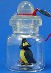 Click here to enlarge image and see more about item n01893: Klima Miniature Owl in a Bottle