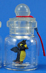Click here to enlarge image and see more about item n01896: Miniature Owl in a Bottle