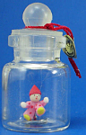 Click here to enlarge image and see more about item n01918: Miniature Clown Doll in a Bottle