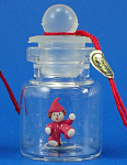 Click here to enlarge image and see more about item n01919: Miniature Clown Doll in a Bottle