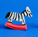 Click here to enlarge image and see more about item n01972: Dollhouse Miniature Hand Painted Ceramic Toy Zebra