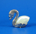 Klima Miniature Metal and Shell Swan