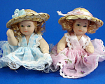 Miniature Bisque Doll Pair