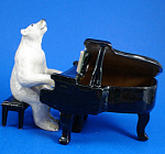 K6751 Polar Bear with Piano