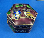 Click here to enlarge image and see more about item n02072: Miniature Enamel Metal Box