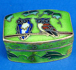 Click here to enlarge image and see more about item n02075: Miniature Enamel Metal Box